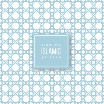 イスラムの伝統的なスタイルのシームレスなパターン。青と白の色。図。