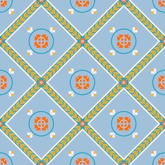 オリエンタルスタイルのシームレスなパターン。