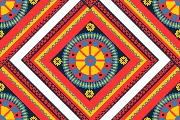 スタイルcarrettosicilianoのシームレスなパターン。シチリアの繰り返しテクスチャプリント、背景。ベクトルイラスト