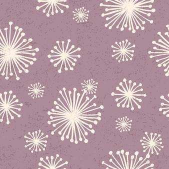 Бесшовный узор в винтажном стиле. романтический дизайн цветы каракули.