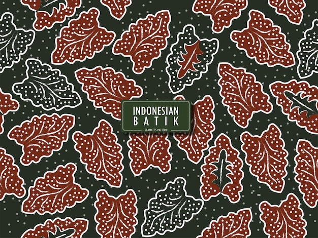 Seamless pattern of indonesian batik sumbit batik from banten west java indonesia