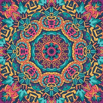 シームレスパターン複雑な曼荼羅パターン。