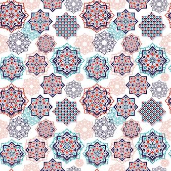 Seamless pattern of islamic geometric art