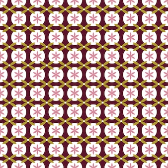 Seamless pattern japanese style, geometric flower background