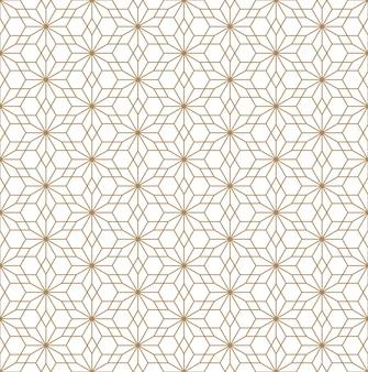 Seamless pattern in japanese style kumiko