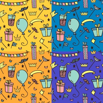 Seamless pattern for kids parties.