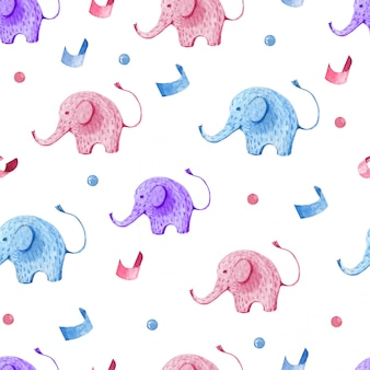 Seamless pattern kids set for children party