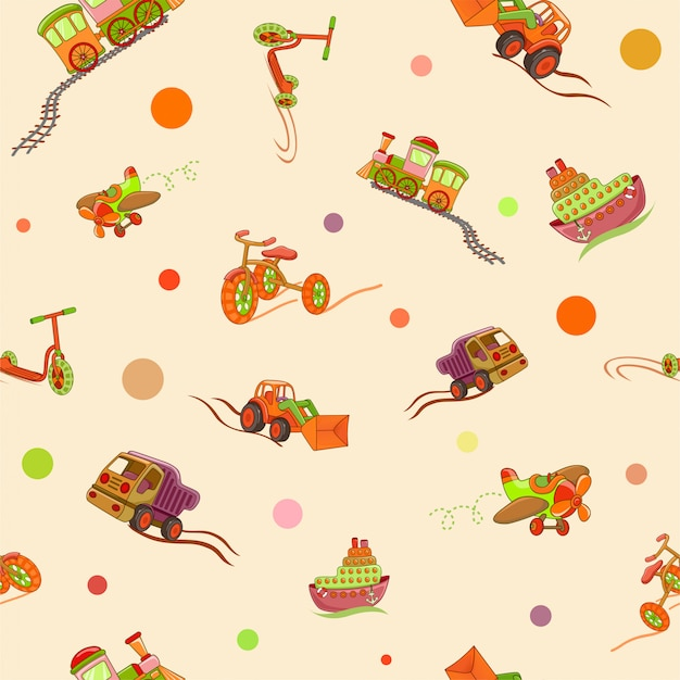 Seamless pattern kids toys.