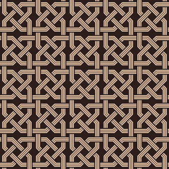 Seamless pattern of knotting ornament vector illustration