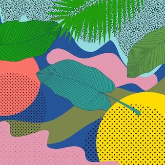 Seamless pattern leaves