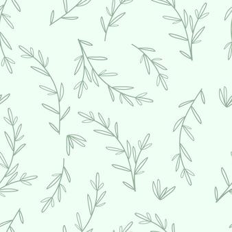 Бесшовные модели листья