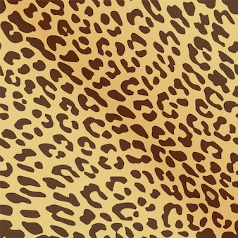 Seamless pattern of leopard print.