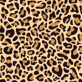 Seamless pattern of leopard skin