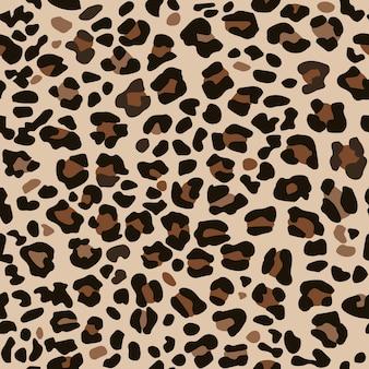 Seamless pattern leopard skin.