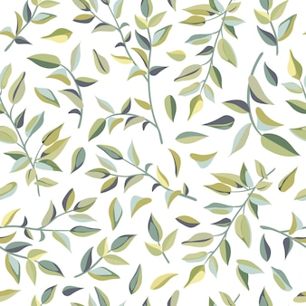 Seamless pattern of liana leaves.