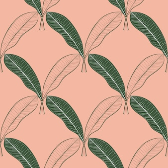 Seamless pattern of a lot of mango leaves.