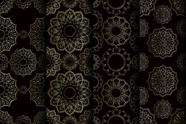 Seamless pattern mandala art design