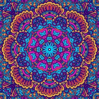 직물에 대 한 완벽 한 패턴 만다라 아트 텍스처