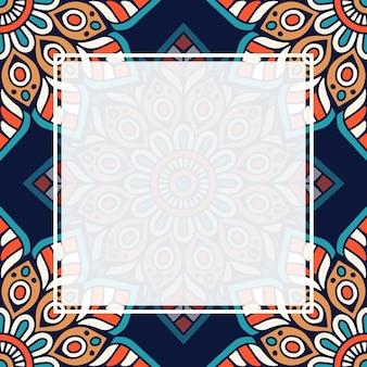 원활한 패턴 만다라 배경