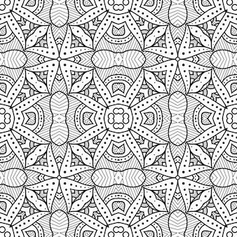 Seamless pattern mandala background