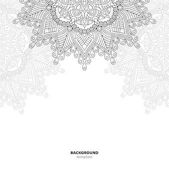 シームレスパターン。マンダラ装飾要素。