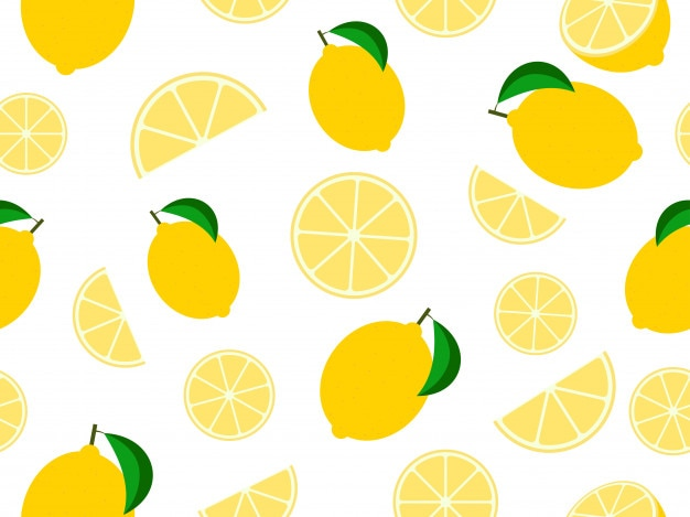 Seamless pattern mixed lemon fruit