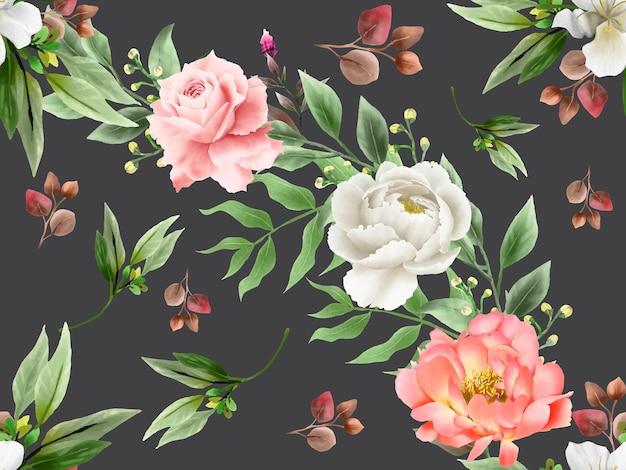 Бесшовный фон современный цветочный дизайн Premium векторы