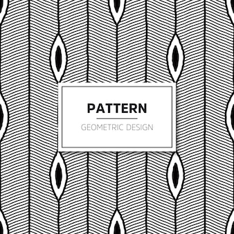 Seamless pattern. Modern stylish texture with wavy stripes.