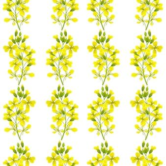 Seamless pattern of mustard.