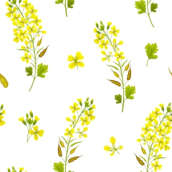 Seamless pattern of mustard.