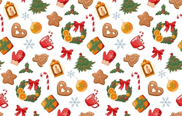 Seamless pattern new year