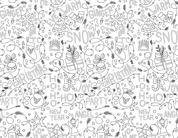 Seamless pattern for new year