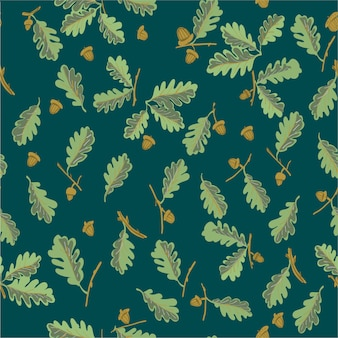 원활한 패턴 오크 잎