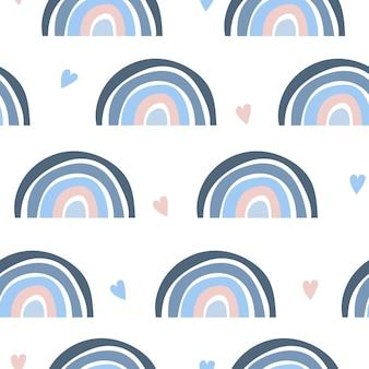 抽象的な虹のシームレスなパターン