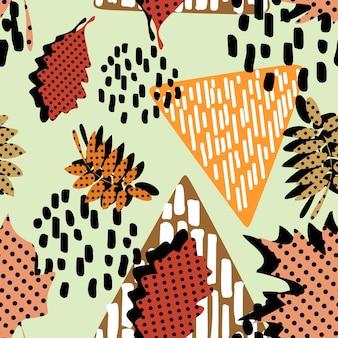 Бесшовный узор осеннего хипстера