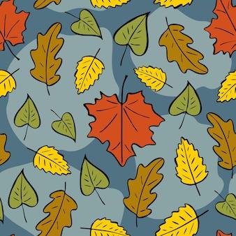 가 잎의 완벽 한 패턴입니다. 가을 밝은 패턴, 손으로 그린 낙서 단풍