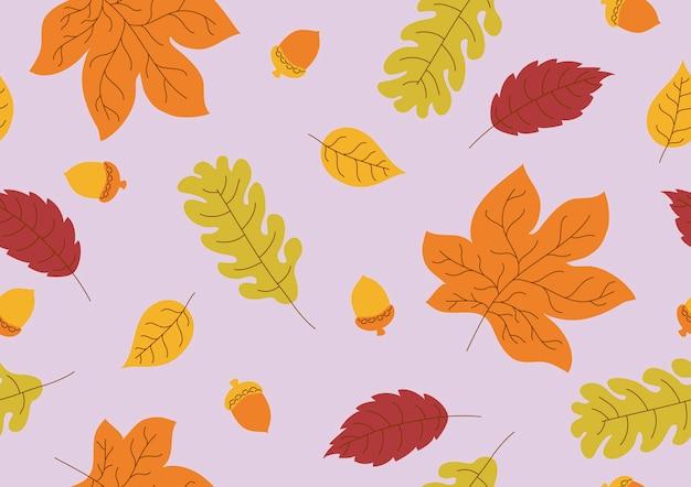 Бесшовный фон из осенних листьев