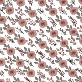꽃 봉 오리와 복숭아 장미의 완벽 한 패턴