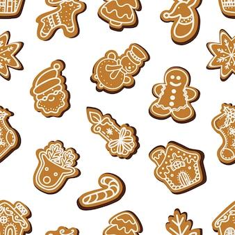 크리스마스 진저 쿠키의 완벽 한 패턴