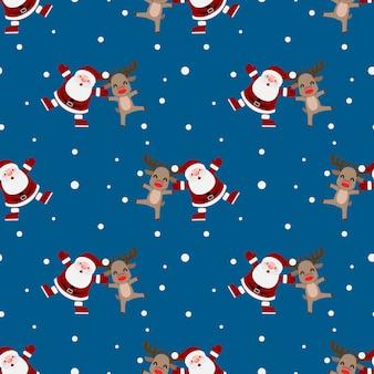 크리스마스 산타 클로스의 완벽 한 패턴입니다.