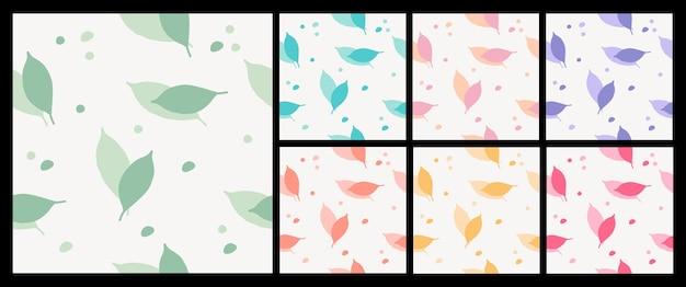 화려한 잎 직물 패션 패턴의 원활한 패턴