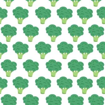 かわいいブロッコリーのシームレスなパターン