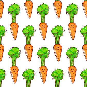 Бесшовный фон из милой моркови иллюстрации