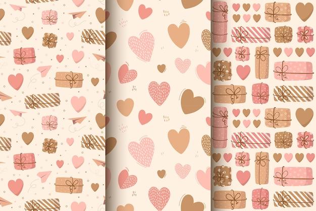 발렌타인 데이 대 한 귀여운 하트의 완벽 한 패턴