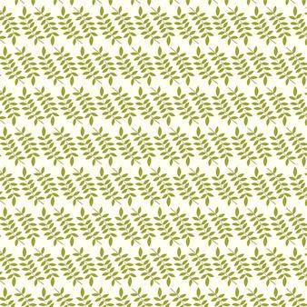 Бесшовный фон из папоротника различных деревьев листва естественных ветвей зеленые листья узор фона