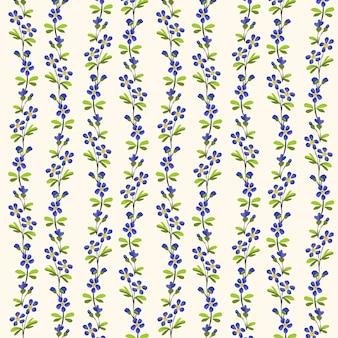 꽃과 녹색 잎의 원활한 패턴 반복