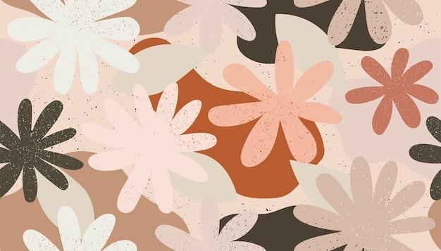 Бесшовный фон из цветов векторные иллюстрации фон цветы и обои