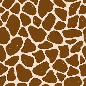 낙서 손 그리기 디자인에서 기린 피부의 완벽 한 패턴