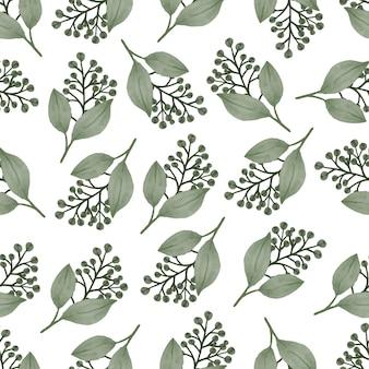 배경 및 직물 디자인을 위한 녹색 식물의 원활한 패턴