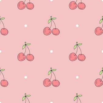 手描きの桜のミニマルなシームレスパターンのシームレスパターン